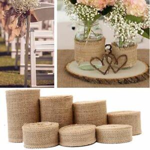 2 Yard/roll Natural Jute Burlap Ribbon for Crafts Hemp Ribbon Lace Material Wedd