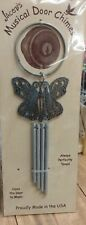 New listing Door Chimes Jacob's Musical Chimes Butterfly Door Chimes Made in Usa