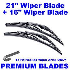 "Premium 21"" Inch & 16"" Inch Pair Front Windscreen Wiper Blades"