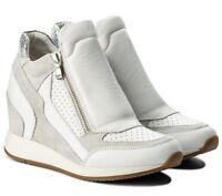 GEOX NYDAME D620QA scarpe donna sneakers pelle camoscio tessuto casual zeppa