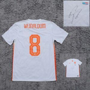 Authentic Wijnaldum Jersey Netherlands Autographed match 10.11.2015 15 ss Away