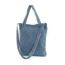 Light Denim Tote Bag Double Strap Shopper Shoulder Bag Beach Holiday Festival