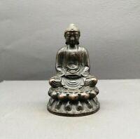 Collectible Tibet Buddhism Decor Old Copper Shakyamuni Gotama Buddha Statue