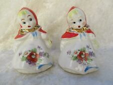 Vintage Hull (?) Pottery Little Red Riding Hood Small Salt & Pepper Shakers