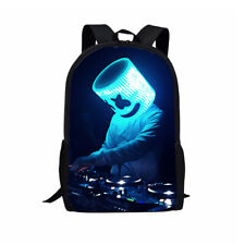 Dj Marshmello Backpack School Sholder Bag Student Rucksack Casual Bookbag