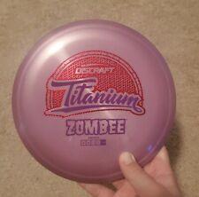 Rare Discraft Ti Titanium Zombee 177g Purple Disc Golf Frisbee