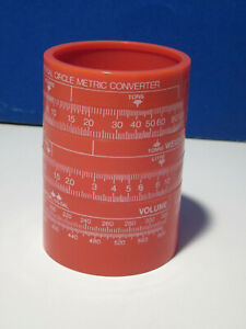 Vintage Universal Circle Pencil Cup English-Metric Converter