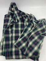 Levis Mens Plaid Stretch Long Sleeve Woven Size XL Multicolor Blue Red Green