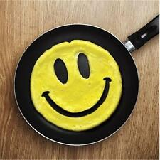 Home Kitchen Silicone Crack Smile Smiley Happy Face Mold Egg Pancake Mould 6A