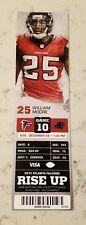 Atlanta Falcons Carolina Panthers Football Ticket 12/29 2013 William Moore Stub