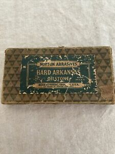 "Vintage Norton Abrasives Hard Arkansas Oilstone - Behr-Manning, Troy NY 4x2x1/2"""