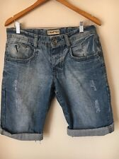 Crafted W30 Distressed Faded Denim Shorts <T12786
