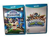 Skylanders Imaginators & Swap Force WiiU Video Games Nintendo  Mint Discs Lot