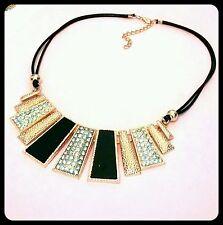 Enamel Statement Oval Costume Necklaces & Pendants