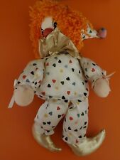 Vintage Faratak Wind Up Clown Doll Toy Musical Animated 1980s Clown Music Box