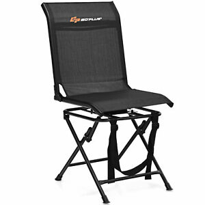 Goplus Folding 360° Silent Swivel Hunting Chair Blind Chair All-weather Outdoor
