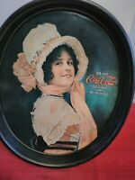 """""""Vintage"""" ~ Coca'Cola ~ Betty Serving Tray ~ Oval Advertising Tip REPRODUCTION"""