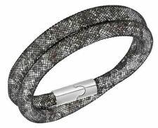 Swarovski Clear Crystal Grey Bracelet Stardust Double Medium #5100094