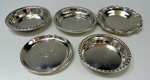 S KIRK, GORHAM, CURRIER & ROBY STERLING SILVER 5 Misc REPOUSSE BUTTER PATS