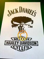 Jack Daniels Stencil A4