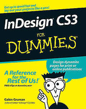InDesign CS3 For Dummies by Galen Gruman (Paperback, 2007)