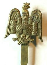 WW1 Bedfordshire Yeomanry All Brass Cap Badge Original