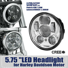 "5.75inch 5 3/4"" Cree Motorcycle LED Headlight Daymaker Projector DRL For Harley"