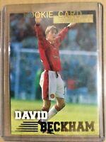 David Beckham Merlin Premier Gold Soccer Card 1997 English EX F/S