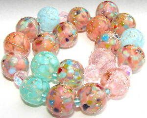 "Sistersbeads ""E-Panama Rose"" Handmade Lampwork Beads"