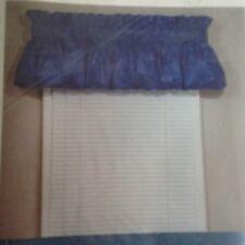 "2 Corona Curtain BALLOON VALANCE Chintz Copen Blue 72"" x 15"" ~ NEW"
