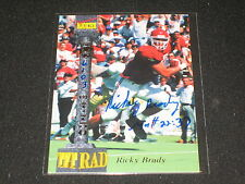 RICKY BRADY ROOKIE SIGNED AUTOGRAPHED CERTIFIED AUTHENTIC FOOTBALL CARD #'D