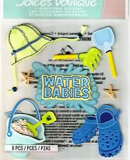 Water Babies Beach Sandbucket Crocs Starfish Ocean Jolee's 3D Stickers