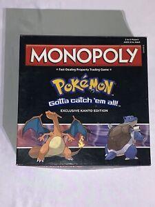 Hasbro Monopoly Pokemon Kanto Edition Gamestop Exclusive Complete