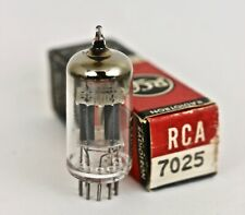 RCA 7025 TUBE MADE IN USA 14mm GRAY PLATE BALANCED TRIODES MATCHED TUBES EACH