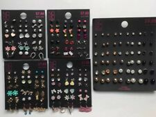 Dangle Earrings Hypo Allergenic New - D Lot of 114 Pairs of Studs and
