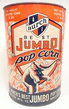 1950's BURCH POPCORN MACHINE 10 lb EMPTY POPCORN CAN #7 - Export, Pa Theatre