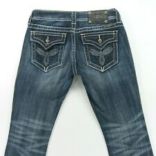 Miss Me Boot  women's jeans flap pockets   -  size 27 / inseam 29