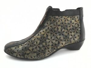PIKOLINOS Bootie Romana Shoes Floral Green Black Womens US 8.5/9 EU 39 VERY RARE