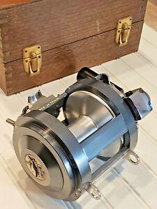 **Outstanding** Garcia Mitchell 1040 big game saltwater fishing reel in wood box