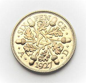 George V 1927 Proof Sixpence