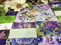 """SHE WORE VELVET (purple), LILAC & LACE Pre-cut QUILT KIT- Purple,White,Green"