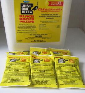 Just One Bite II Pellet Packs (6 Packs)  1.5 Oz packs FRESH! Rat & Mouse Poison