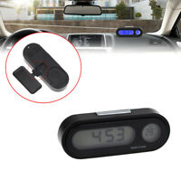 LCD Digital Car Electronic LED Time Clock Watch Thermometer With Backlight