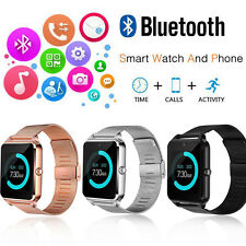 Bluetooth Facebook Twitter Phone Z60 Smartwatch Stainless Steel for IOS Android