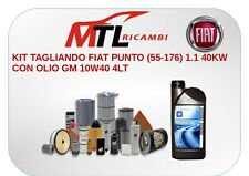 KIT TAGLIANDO FIAT PUNTO (55-176) 1.1 40KW CON OLIO GM 10w40 4LT