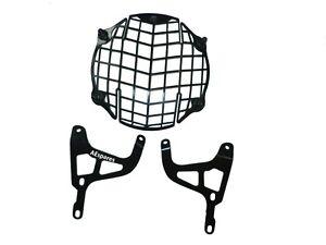 For Royal Enfield Himalayan 411 Black Powder Coating Headlight Grill ECs