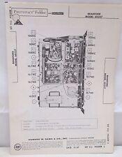 Sams Photofact Folder Parts Manual Bradford Model 60327 Automatic Record Changer