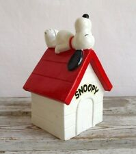 """Vintage Snoopy Coin Bank """"United Feature Syndicate"""" 1970 Foil Label Japan"""