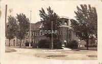 C43/ Gaylord Michigan Mi Real Photo RPPC Postcard 1923 High School Building 11