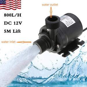 800L/H Ultra Quiet Mini Brushless Motor Submersible Water Pump Lift 5M DC 12V